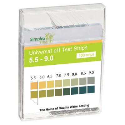 SimplexHealth Wassertest für pH 5,5-9 (100 Stück)