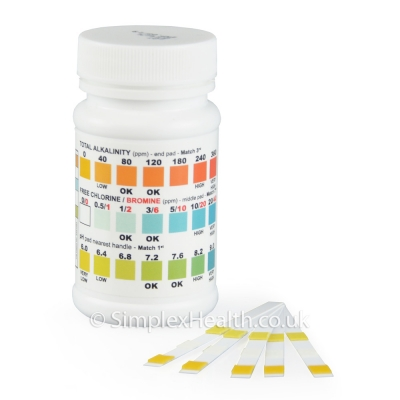 Pooltester 3-in-Einem Chlor pH Alkalinität (50 Stück)