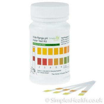 SimplexHealth Wassertest für pH 2-12 (50 Stück)